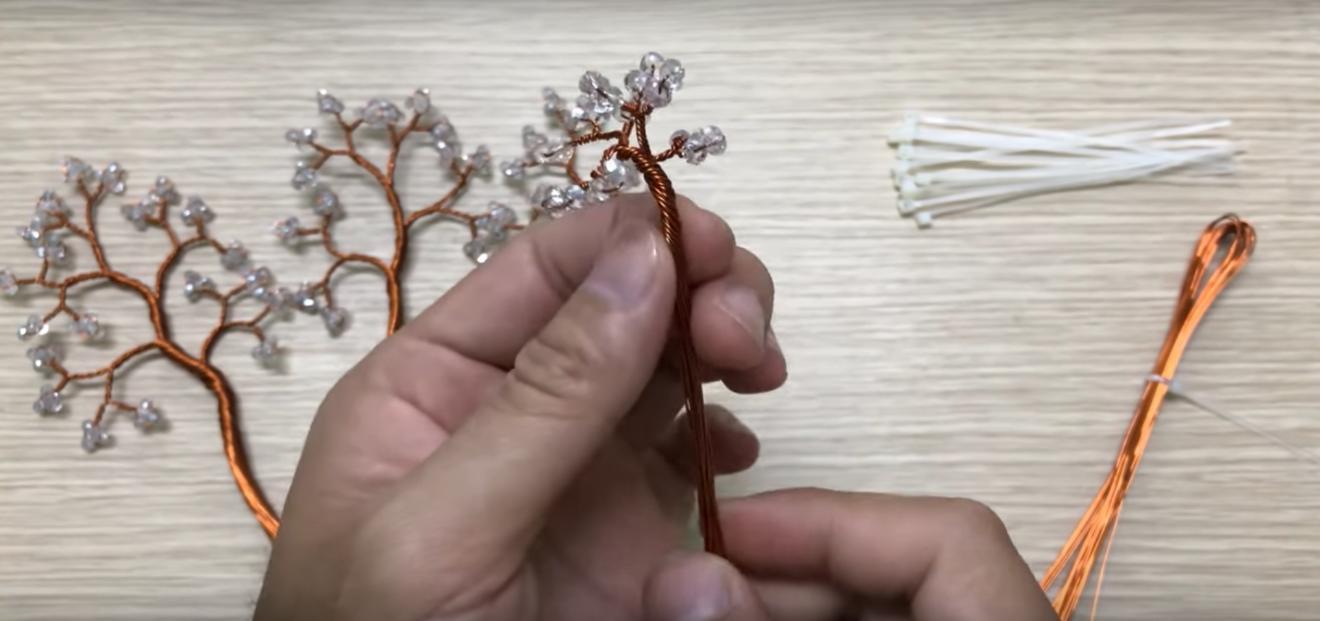Cây bonsai hạt cườm mini tuyệt đẹp cho ngày tết