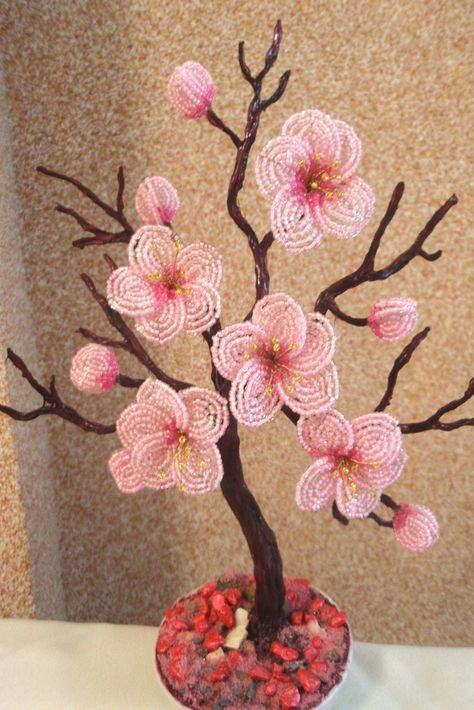 Cây hoa anh đào hạt cườm bốn mùa tươi mới