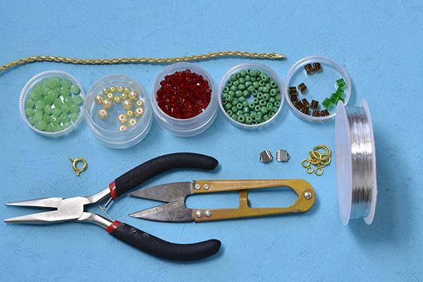 nguyên liệu cần chuẩn bị khi tự làm đồ handmade bằng hạt cườm