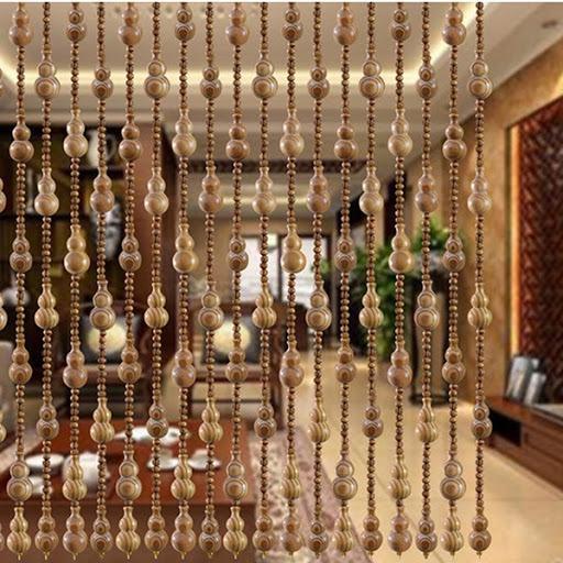Rèm cửa bằng hạt cườm gỗ siêu đẹp