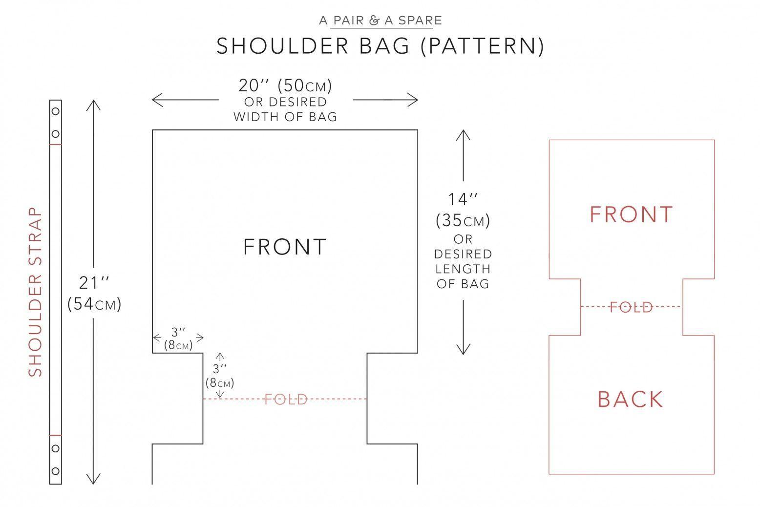 Bản vẽ phác thảo hình dáng túi tote mẫu (Nguồn: Internet)