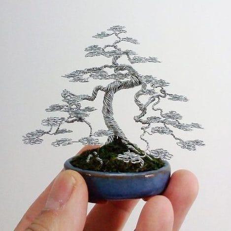 Cây bonsai handmade làm từ dây kẽm (Nguồn: Internet)