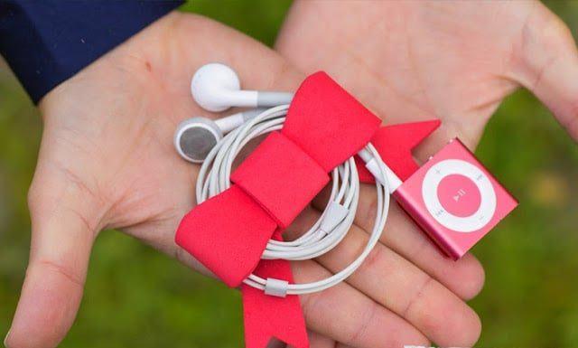 Một chiếc quấn tai nghe hình nơ đặc biệt sẽ giúp bạn hạn chế được tình trạng dây tai nghe bị rối (Nguồn: Internet)