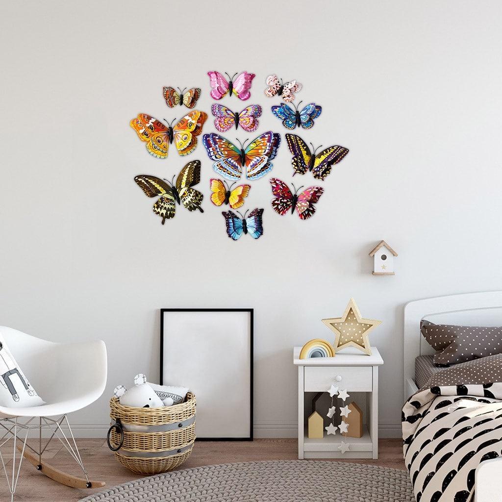 Tự làm những chú bướm giấy handmade và gắn lên bức tường phòng ngủ trống trải, chúng ta đã có ngay một bức tranh đẹp tựa cổ tích (Nguồn: Internet)