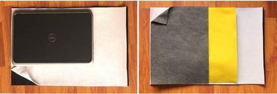 Ở thao tác đầu tiên, các bạn cần sắp xếp sẵn thứ tự cho các tấm vải nỉ (Nguồn: Internet)