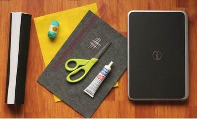 Nguyên liệu, dụng cụ cần chuẩn bị để làm túi đựng laptop handmade (Nguồn: Internet)