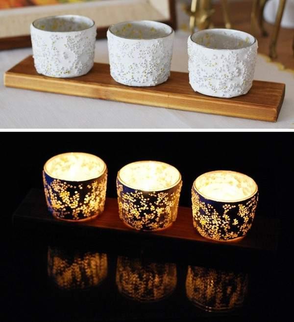 Ánh sáng lung linh toả ra từ chiếc đèn nến handmade trong đêm tối (Nguồn: Internet)