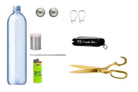 Nguyên liệu, dụng cụ làm hoa tai hạt ngọc cần chuẩn bị (Nguồn: Internet)